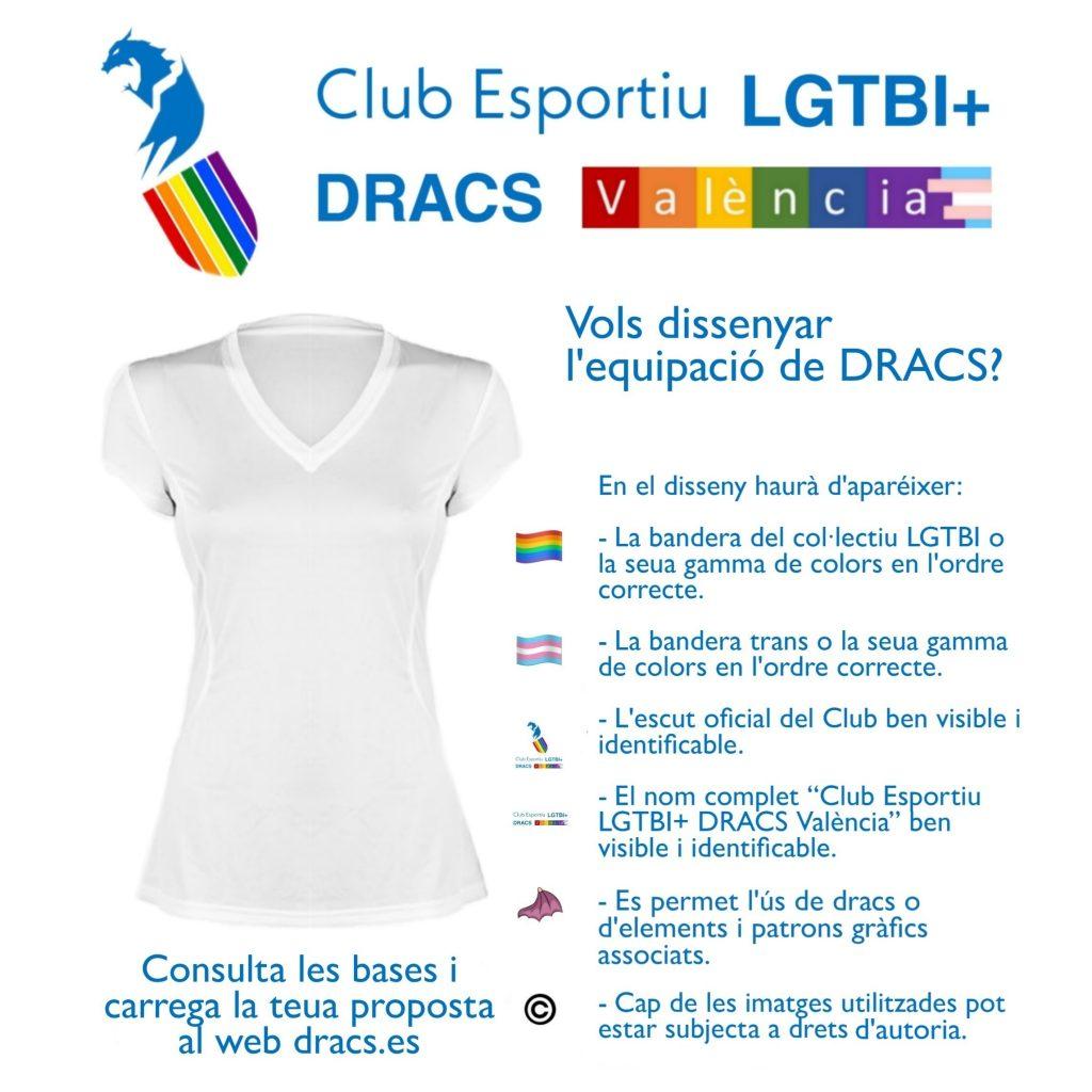 Convocatoria para el diseño de la equipación del Club Esportiu LGTBI+ DRACS València