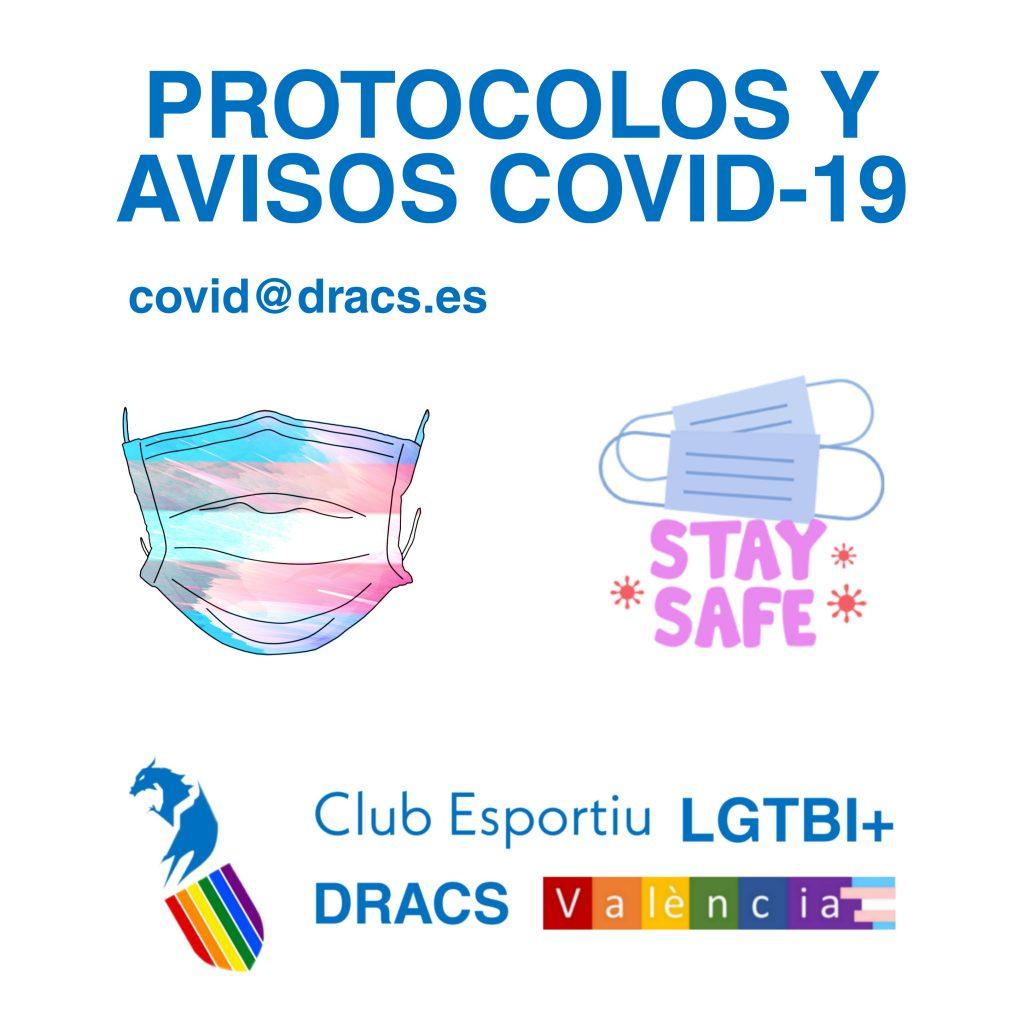 Protocolos COVID: teléfono de asistencia y mail de avisos